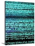 Internet Computer Code Bedruckte aufgespannte Leinwand von Christian Darkin - 76x102 cm