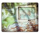 luxlady Gaming Mousepad Bild-ID: 34002931Vintage Grün Beton Brick Wall Hintergrund Old Fenster