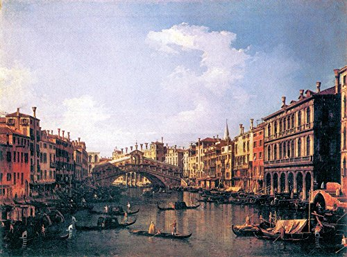 Das Museum Outlet-The Rialto Bridge aus der South von Canaletto, gespannte Leinwand Galerie verpackt. 50,8x 71,1cm