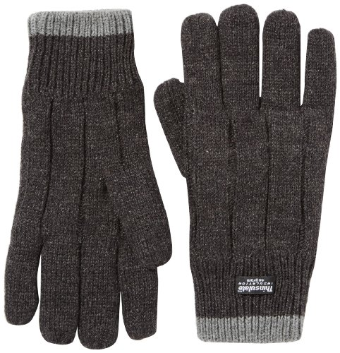 Fraenklis gants pour homme en tricot thinsulate basic 9 Gris - Anthracite/gris