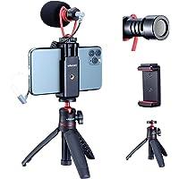 ULANZI Smartphone Video Rig con Microfono, Smartphone Video Kit per iPhone con Treppiede Phone Mount Cold Shoe Shotgun…