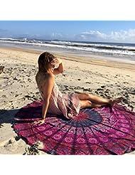 WDBS Serviette de plage ronde / Europe écharpes châles / serviettes de plage