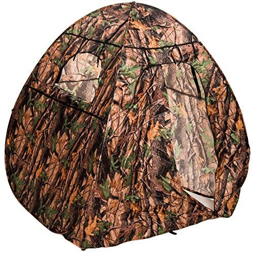 Pop-Up Tarnzelt mit Wald-Tarnmuster und DREI Fenstern, ideal für Naturfotografen