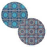 BOHORIA® Premium Design Keramik Topfuntersetzer 2er Set - Dekorative...