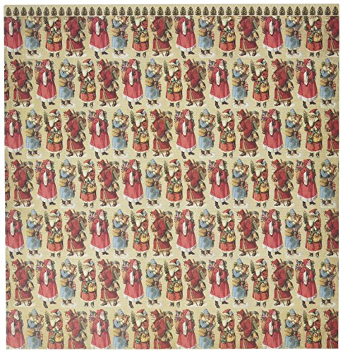 Unbekannt Reminisce Here Comes Santa 30,5 x 30,5 cm doppelseitiges Scrapbook-Papier, Weihnachts-Collage -