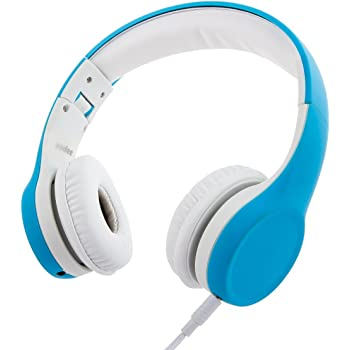 Wired Volume Limiting Kids Headphones Foldable Over Ear Headphones with Music Sharing function and Detachable Cable for Children Boys Girls (Blue)
