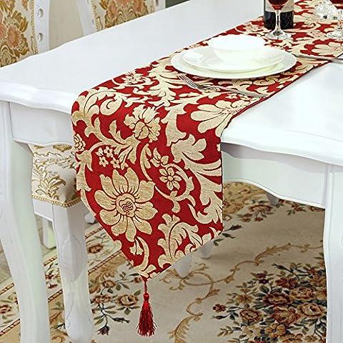 Emmet Gilding Jacquard Weave Table Runner with Velvet, Chenille, Diamond