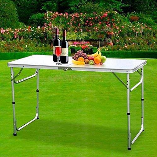 HUAYUU Aluminium Campingtisch Klapptisch Gartentisch Arbeitstisch Balkontisch 120x60x70cm Höhenverstellbar Tragbar Falttisch...