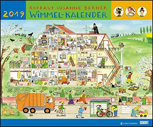 Wimmel-Kalender 2019 – DuMont Kinderkalender – Wandkalender 58,4 x 48,5 cm – Spiralbindung