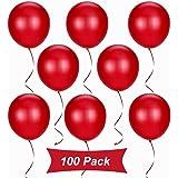 Gxhong 100 Pezzi Palloncini Rosso, Palloncini in Lattice da 12 Pollici per Elio, Palloncini per Laurea Palloncini per Matrimo