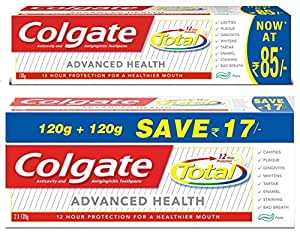 Colgate Total Advance Health Toothpaste - 240 g and Colgate Total Advance Health Toothpaste - 120 g