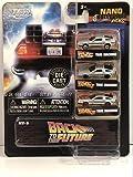 "Jada Toys Back to The Future Time Machine Delorean Bttf 3 Pack Nano 1.65"" Diecast Cars"