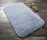 Carpemodo Badteppich Dreams Pastel Blue 80x140 cm / Hell Blau / mit ANTRON Teppichfasern / hochwertige Qualität / Oeko-Tex Standard