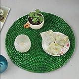 Xuan - worth having Western Matten Rattan Tray Potholder Isolierpads Matratze Lagerung Korb Hotel Küche Wohnzimmer Geschirr (Durchmesser 37cm) Tischsets ( Farbe : B )