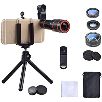 Samsung Galaxy Leegoal Universal Phone Camera Lens Kit 22x Cell Phone Camera Lensl Upgraded Zoom Telephoto HD Lens Wide Angle Flexible Tripod for iPhone Ipad
