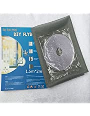 SYGA Window Invisible Screen self-Adhesive Simple Gauze DTY self-Installed Mosquito Insect Control with Velcro_Grey
