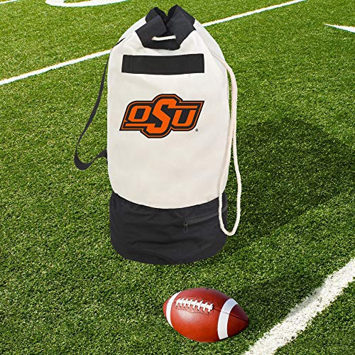 Smart Design Collegiate Robuste Duffel-Tasche mit 2 Fächern, 38,1 x 76,2 cm, Segeltuch, Design Oklahoma State University Team - Offiziell Lizenziertes Logo - Schwarz & Orange - [Cowboys] -