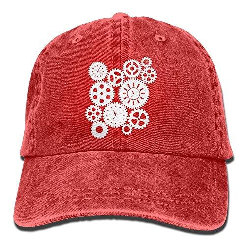c84ad403940f2 rongxincailiaoke Gorras béisbol Baseball Cap Time Clock Gears Clipart-1 Men  Golf Hats Adjustable Baseball