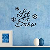 """Ambiance-Live Wandtattoo """"Let it Snow"""" - 55 X 65 cm, Silber"""