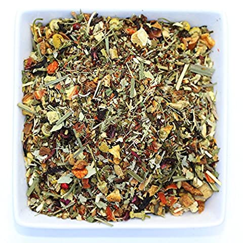 Tealyra - Healthy Edge - Immunity Booster - Detox - Weight Loss - Herbal Tea - Loose Leaf Tea - Pu-Erh and Oolong Tea - Caffeine Level Low - Blend -