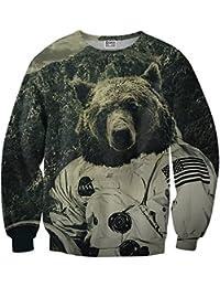 Mr. Gugu & Miss Go ® ⋅ NASA Bear Suéter ⋅ 3D ⋅ Unisex ⋅ Fullprint ⋅ Impreso ⋅ Multicolor ⋅ Primavera ⋅ Verano ⋅ 2017 ⋅