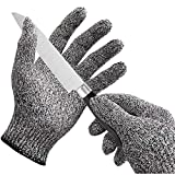 Clomana® Cut Resistant Hand Gloves as Safety Protection From Vegetable Knives Pack of