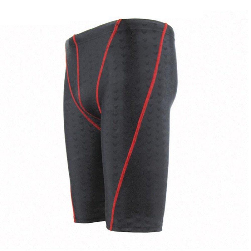 ZC&J Herren-Schwimm-Hosen wasserdichte Stoff-Shorts, schwarze eingelegte  rote Mode-Strand-Shorts, Fitness schnelltrocknende Shorts, Athleten  professionelle ...