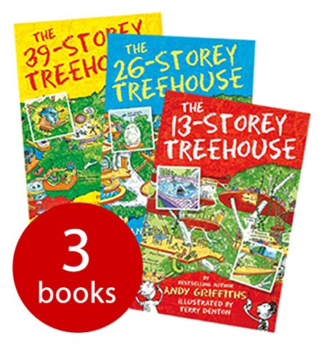Macmillan Pack de collection The 13-Storey Treehouse d'Andy Griffiths (The 13-Storey Treehouse, The 26-Storey Treehouse et The 39-Storey Treehouse)
