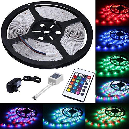 LED-Lichtstreifen mit Fernbedienung - zum Beispiel als Highlight unter dem Bett oder in der Küche.