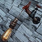 Pumpink Schmiedeeisen Vertraglich Industrielle Wandleuchten Wasserhahn Wasserhahn Anhänger Vintage LED Wandleuchte Innen Retro Tap Loft Stil Wandleuchte