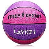 meteor® Basketball Kinder & Jugend - Größe #4 Rosa - ideal auf die Kinderhände 5- bis 10-Jährigen abgestimmt idealer Basketball für Ausbildung Weicher Basketball mit griffiger Oberfläche