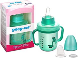 Poop-Cee Sipper Elite 2 in 1 Multicolour 180ml 1 pc BPA Free