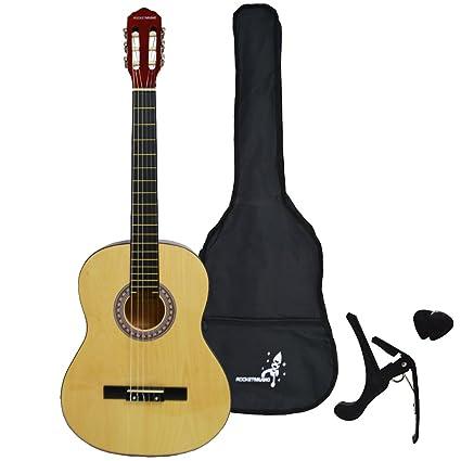 rocket cg12dr guitare classique 1-2 libellule rose
