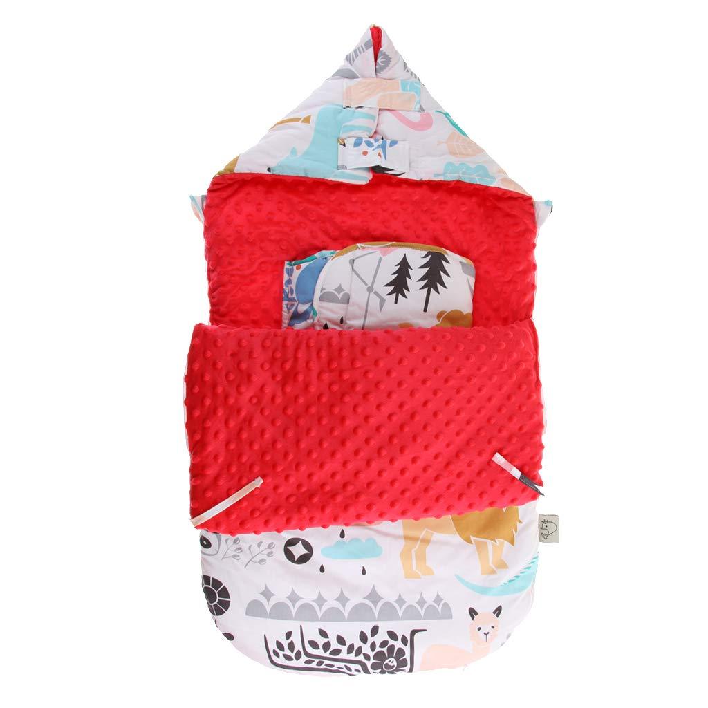 SM SunniMix Saco de Dormir de Algodón Suave Bolsa de Descansa para Bebé – A