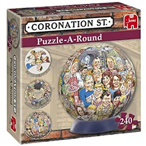 Wasgij Coronation Street 3D Puzzle-A-Round Jigsaw and Stand 240pc