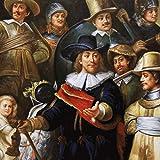 Riesiges Handgemaltes Barock Öl Gemälde Rembrandt Nachtwache Gold Prunk Rahmen 220 x 160 x 10 cm - Massives Material -
