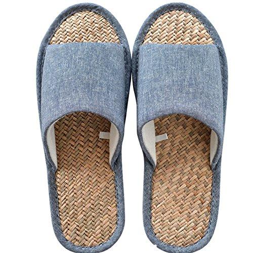 Pantofole estive Trasporto di trascinamento pantofole antisdrucciolevole del cotone Pantofole domestiche del cotone Ciabatte fredde delle coppie delle signore Uomini e donne pavimento impermeabile ant B