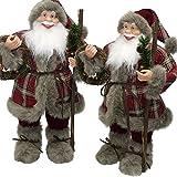JEMIDI Weihnachtsmann Weihnachtsmänner 30cm Figur Santa Klaus Deko Nikolaus 30cm Egill