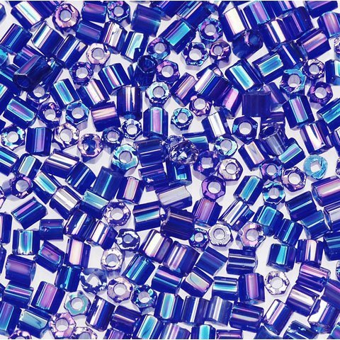 Bulk Buy: Darice DIY Crafts Glass Seed Beads Dark Blue AB 2-Cut 1102-06 by Darice Bulk Buy