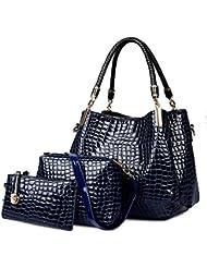 Coofit Bolso de mujer, cross body bag y monedero,olso mochila para mujer 3 Pcs Set Bolso De Las Mujeres Y Monedero De Mano Y Hobo Bolsa De Cuero