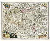 Historische Karte: Oberlausitz, 1727 (Plano)