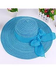 Tapa de Radiador M¨¢ximo a lo largo de la tapa Visor de verano Playa Cap Sombrero de Paja.Pajarita protector solar sombrero stetson