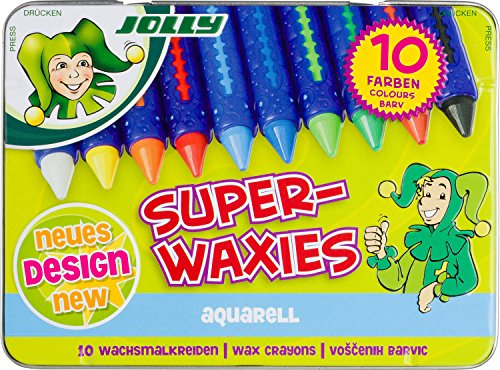 JOLLY 5955-0003 - Superwaxies Aqua, wasservermalbar, 10er set