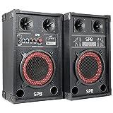 Skytec SPB-8 Pack Enceintes Amplifiées • Puissance maximale de 400 W • Haut-parleur BassReflex...