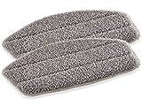 Leifheit 2er Set Ersatzpads Dampfreiniger CleanTenso, Dampfbesen Wischbezug für eine porentiefe Reinigung, Dampfmop Ersatz mit Klettunterseite