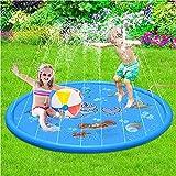 Royala Spritzwasser Spiel Pad Sicher Streuen Matte 170 cm Outdoor Garten Tragbare Aufblasbare Planschbecken für Kinder Jungen Mädchen Sommer Hof Terrasse Spray Spielzeug