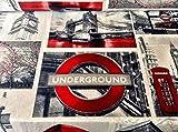HomeBuy Stoff, Motiv: London, Designerstoff für Vorhänge