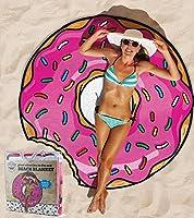 Accessori estivi mare - piscina Telo Mare grande a forma di ciambella Modello : Donut Colore: multicolore Misure: 150 cm Materiale : Poliestere Marca : Big Mouth