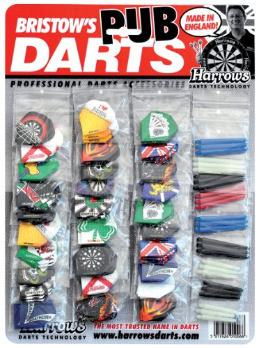Harrows Pub Darts Show Card, Confezione Alette e Shaft per freccette