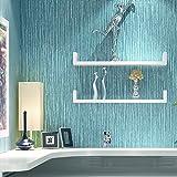 Simple moderno Plaid liso color sólido papel pintado no tejido amplio living comedor dormitorio de papel pintado de pared a pared , lake blue